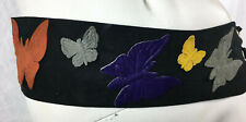 Vintage 70s Hippie Choker Hip Belt Set Butterfly Piirate Deerskin Boho