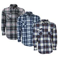 Magneto Mens Flannel Check Shirt Chest Pocket Long Sleeved Farmer Lumberjack