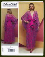 Deep V-Neck Pullover Dress Sewing Pattern~Kimono Sleeves! (L-XL) Vogue 1627
