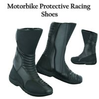 100% Real Leather Motorbike Boots Waterproof Motorcycle Racing Shoes CE Armours