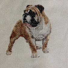 Old English Bulldog Accent Throw Pillow Needlepoint