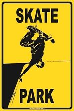 Skate Park Aluminum Metal Traffic Parking Road Street Sign Wall Decor