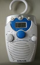 SHOWER RADIO AM/FM BY CRAIG, NEVER USED IN SHOWER, JUST TESTED