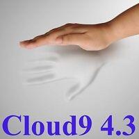 "CLOUD9 4.3 KING 4"" MEMORY FOAM MATTRESS PAD, BED TOPPER"