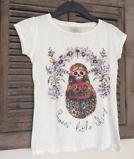 MATRYOSHKA Babuschka SKULL Shirt 34 ZARA Vintage Skeleton T-Shirt 36 hipster TOP