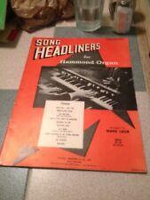 Song headliners for Hammond Organ Mark Laub Volume one Paperback Gem edu Music