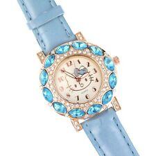 Hello Kitty Girl's Blue Austrian Rhinestone Crystal Wrist Quartz  Watch