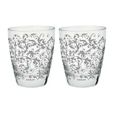 Excelsa Decorated Water Tumblers, Set of 2 Glasses 2 pieces grey