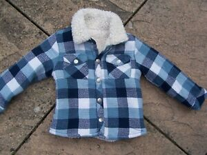 From Tu Blue Fleck Chunky Long Sleeved Jacket Size 12-18 Months