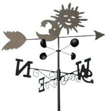 Weathervanes- Steel Sun and Moon Weathervane