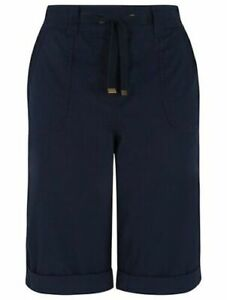 WOMENS LADIES Poplin Long cotton Shorts UK Size: 8