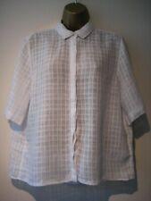 Jigsaw white oversized blouse/top size 14
