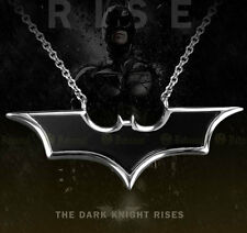 NEW 925 Sterling Silver onyx Batman Dark Knight Pendant  Necklace Silver Chain