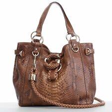 64b422ac6bc GUCCI G Wave brown python braided leather strap medium shoulder hobo tote  bag