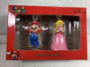 NEW Hallmark Nintendo Super Mario and Princess Peach Christmas Tree Ornament