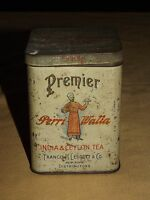 VINTAGE FRANCIS H LEGGETT & CO PERRI WALLA INDIA & CEYLON TEA TIN **EMPTY