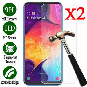For Samsung Galaxy A70 A50 40 Tempered Glass Protective Screen Protector Film 2X