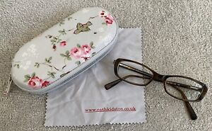 D&G 395 558 135 brown shades reading FRAMES for eye glasses in CATH KIDSTON case