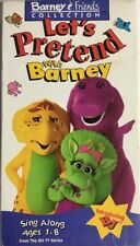 Barney Lets Pretend With Barney(VHS,1993)TESTED-RARE VINTAGE-SHIPS N 24 HOURS
