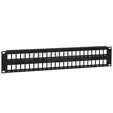 48 Port 2U Keystone Snap-in Blank Patch Panel for Cat5e Cat6 RJ45 19 inch NEW