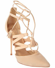 SCHUTZ Zora Beach Sand Nubuck Leather Lace-up Pump Shoes Size 8.5 $220 Retail