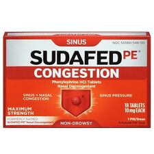 SUDAFED PE Congestion Tablets 18 ea