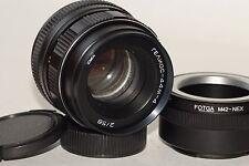 HELIOS 44M-4 2/58mm SLR Lens Zenit M42 + Sony E NEX (for E-mount cameras)