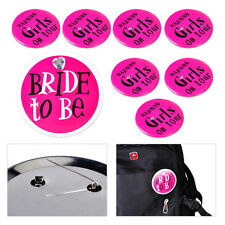 8pcs Bride to Be Girls on Tour Badges Pin Brooch Bachelorette Party Favors