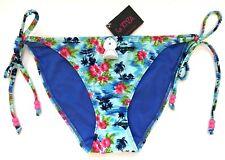 La SENZA Size 8 Bikini Bottoms Palm Island Tie Side Brief Blue