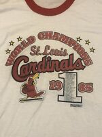 Vintage Screen Stars Ringer Tee Cardinals 1985 WORLD SERIES T-SHIRT St. Louis XL