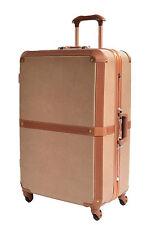Luggage Suitcase Retro Classic Unique Trunk Lightweight 4 Wheels TSA Lock Bags Large 76x50x30cm 5.2kg