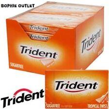 Trident tropicale Twist SUGAR FREE gomme da masticare 12 pacchetti (full BOX)