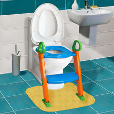 Ladder for Child Toddler Toilet Chair Kids Potty Training Seat with Step Stool
