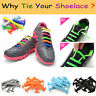 No Tie Shoelaces Elastic Silicon Shoe Laces For Canvas, Running, Sneakers Lot