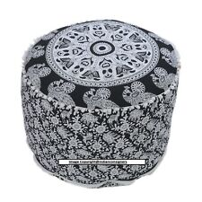 "Animal Mandala Floral 22""Inch Ottoman Round Seat Cover Chair Home Decor Handmade"