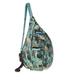 KAVU Mini Rope Sling Bag Crossbody Shoulder Polyester Backpack - Sea Glitter