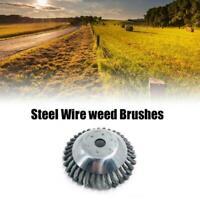 Erbacce Spazzola Steel Wire Wheel per Decespugliatore Ricambio Polvere Rimozione