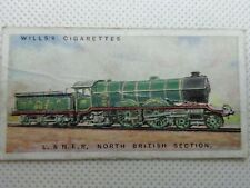 WILLS's CIGARETTE CARD VINTAGE RAILWAY ENGINES, L.&N.E.R. NORTH BRITISH SECTION