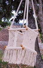 Baby macrame chair hand made cotton/swing hammock/Hanging baby chair/Furniture