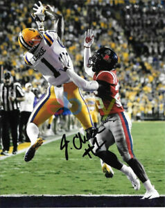 JA'MARR CHASE SIGNED LSU TIGERS 8X10 PHOTO1 reprint