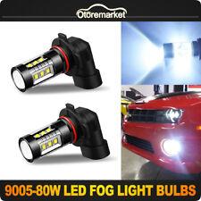 Pair 9005 HB3 2835 SMD Headlight Fog Light White Driving Running Lamp High Power