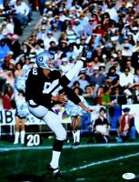 """Ray Guy Signed Autographed 11X14 Photo Kick Leg in Air """"HOF 14"""" JSA"""