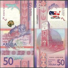 [USA Seller] UNC Uncirculated 50 Aruba Florins Rare Banknote 2019 Brand New
