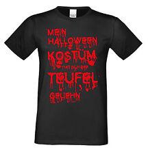 Mein Halloween Kostüm hat sich der Teufel geliehn Shirt Herren  Farbe: schwarz