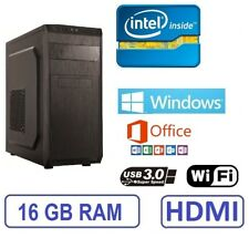 Ordenador Sobremesa PC Intel 16GB RAM WIFI WINDOWS + OFFICE WINDOWS