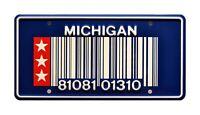 RoboCop | Officer Murphy's Taurus | Metal Stamped Replica Prop License Plate