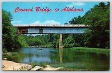 Covered Bridge over Locust Fork of Black Warrior River, Alabama Postcard Unused