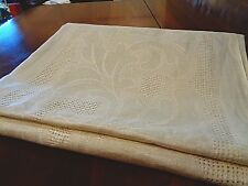 """Antique Irish Linen Damask Table cloth Never used 52"""" x 70"""" 00004000"""