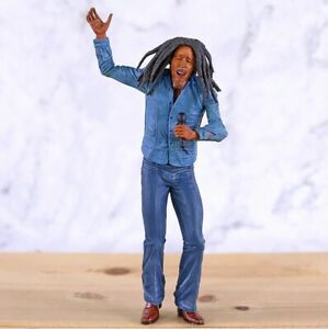 Reggae Singer Bob Marley PVC Figure Mini Statue Collectible Model Toy Gift