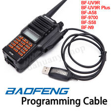 Baofeng Walkie Talkie USB Programming Cable Cord CD For UV-9R Plus A58 Radio